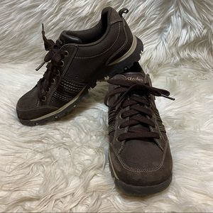 2011 Skechers Shoes Brown Chunky Leather size 8.5